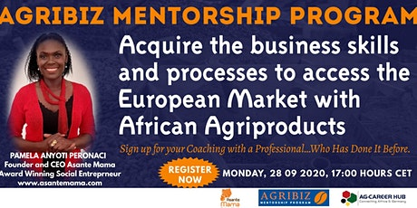 Agribiz Mentorship Programme: Market Entry in EU for African Products tickets