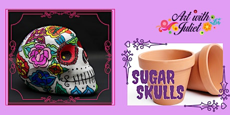 Art with Juliet - Pots: Sugar Skulls B