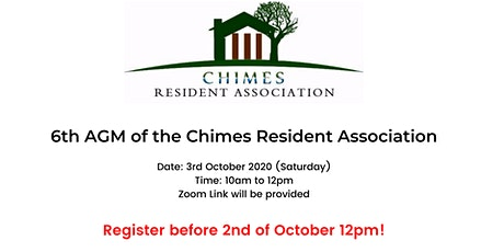 6th AGM of the Chimes Residents Association tickets