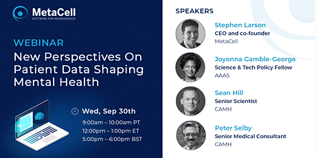 [WEBINAR] New Perspectives On Patient Data Shaping Mental Health tickets