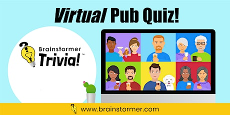 Brainstormer Virtual Pub Quiz, OCTOBER 2, 2020 tickets
