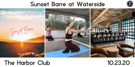 Sunset Barre at Waterside tickets