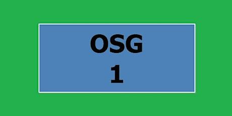 1 ottobre - 1° anno OSG biglietti