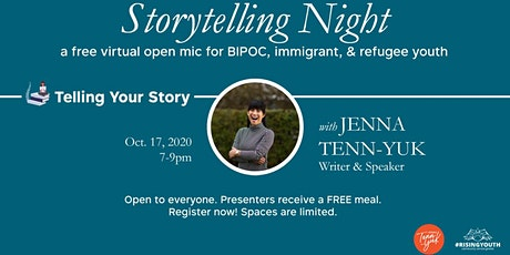 Storytelling Night: a free virtual open mic night tickets