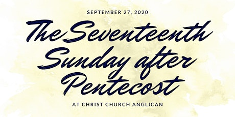 Christ Church Anglican September 27  Services tickets