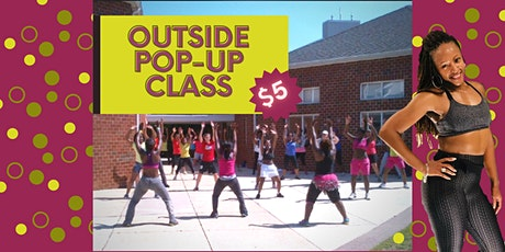Outside Pop-up class with Shirrita Francis a.k.a. Sunshine tickets