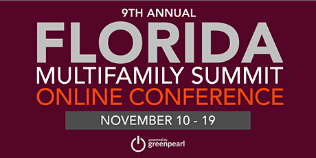 Florida Multifamily Summit: Online Conference, powered by GreenPearl tickets