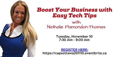 Boost Your Business with Easy Tech Tips with Nathalie Plamondon-Thomas tickets