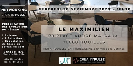 After-Work Créa In'Pulse Mercredi 30 Sept 2020 18H30 Apéritif + Networking tickets