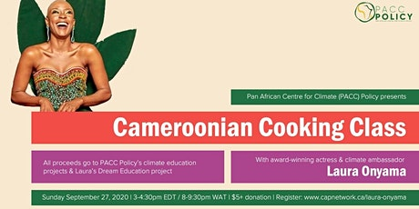 Cameroonian Cooking for Climate & Education with Laura Onyama! tickets