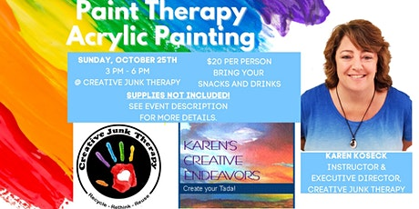 Paint Therapy - Glow painting tickets