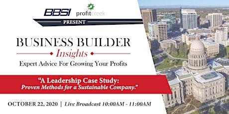 Business Builder Insights October tickets