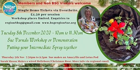 Putting Your Christmas Flowers together in a spray with Sue Varnals tickets