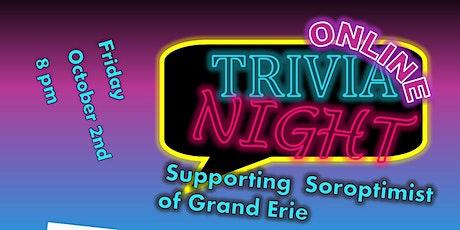 "TRIVIA NIGHT- ""friends"" - hosted by Soroptimist of Grand Erie biglietti"