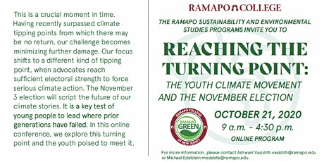 Reaching the Turning Point:  The Youth Climate Movement and the Election tickets