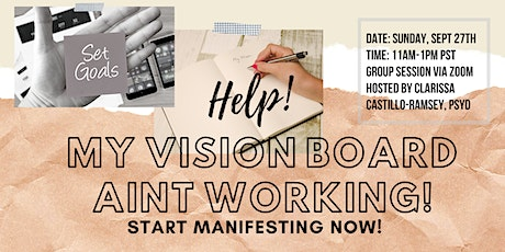 Help! My Vision Board Isn't Working! tickets
