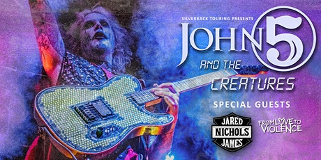 JOHN 5 & JARED JAMES NICHOLS - From Love to Violence - Support ticket tickets