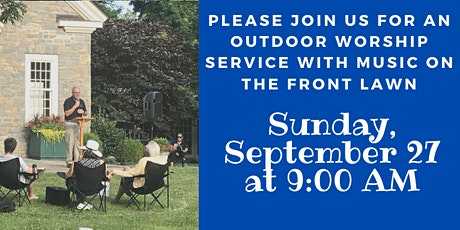 Indian Hill Church Outdoor Sunday Worship Service Front Lawn tickets