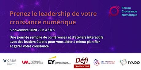 Forum Croissance Numérique billets