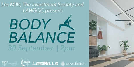 Body Balance with Les Mills, Law Soc and Investment Society tickets