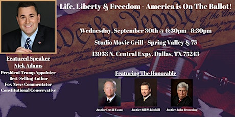 Life, Liberty & Freedom with Nick Adams - America is On The Ballot! tickets