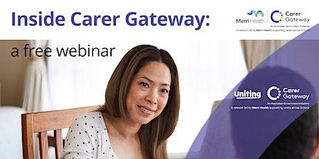 Inside Carer Gateway: free webinar tickets