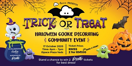 Trick or Treat Cookie Decorating Class by iSpace KL tickets