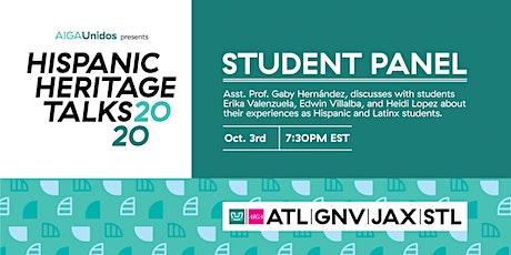 AIGA Unidos presents Hispanic Heritage Talks 2020: The Student Panel tickets