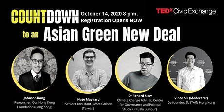 TEDxCivicExchange Kick-off - Asian Green New Deal tickets