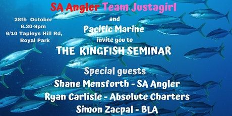 THE KINGFISH SEMINAR -Free entry but you must book a ticket tickets