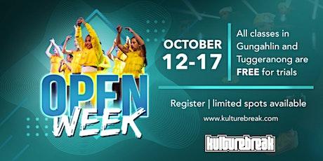 Open Week FREE classes tickets