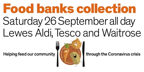 Saturday 26 September All-Day 3-supermarket Food Banks Collection tickets
