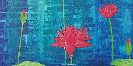 Lotus flower meditation painting tickets