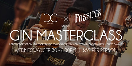 Gin Masterclass - presented by Fossey's Distillery tickets
