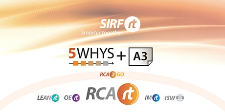 NZ RCARt - 5 Whys & A3 | Root Cause Analysis - 2 x 3.5hr sessions | 5YA3 tickets