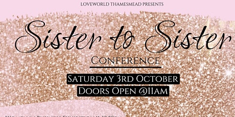 SISTER TO SISTER CONFERENCE tickets