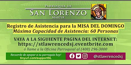 DOMINGO, 27 de Septiembre @ 12:30 PM Registración para la Misa en Español tickets
