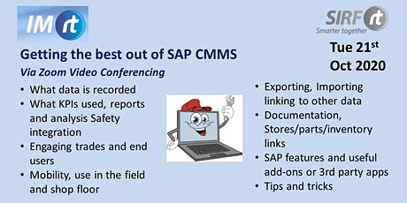 VICTAS Getting the best out of SAP CMMS via Zoom tickets