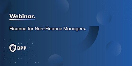 Finance for Non-Finance Managers. tickets