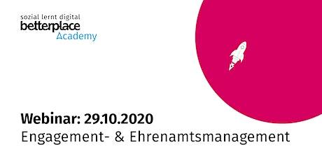 Webinar: Engagement- & Ehrenamtsmanagement im digitalen Zeitalter Tickets