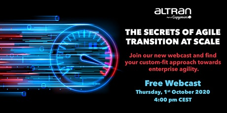 Agile Transition at Scale: Discuss Leading Approaches to Enterprise Agility Tickets