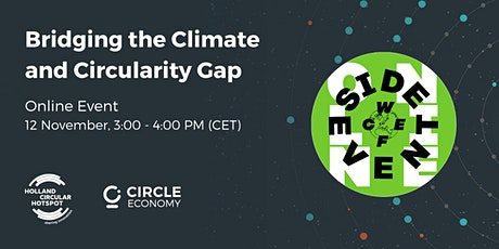 WCEFonline Side Event: Bridging the climate and circularity gap tickets