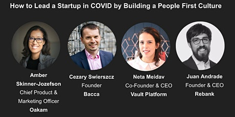 How To Lead a Startup in COVID by Building a People First Culture tickets
