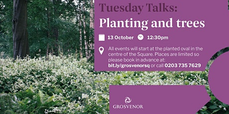 Redesigning Grosvenor Square: Tuesday talk on Planting and Trees tickets