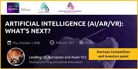 TRENDS IN ARTIFICIAL INTELLIGENCE(AI/AR/VR):leading VCs panel and pitching tickets