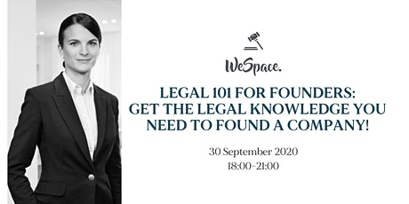 Legal 101 for Founders 30.09.20 tickets