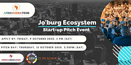 Johannesburg  Startup Pitch Event - AfricArena Tour 2020 tickets