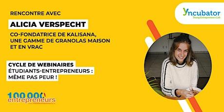 Webinaire Etudiant-Entrepreneur : Alicia Verspecht, Kalisana biglietti