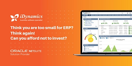 Think you are too small for ERP? Think again! Can you afford not to invest? tickets