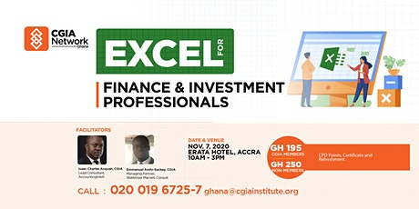 Excel for Finance & Investment Professionals MasterClass tickets